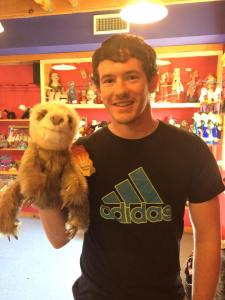 Grant and Sloth Puppet