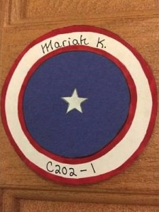 Captain America Door Decoration