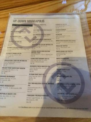 Beer List at Updown