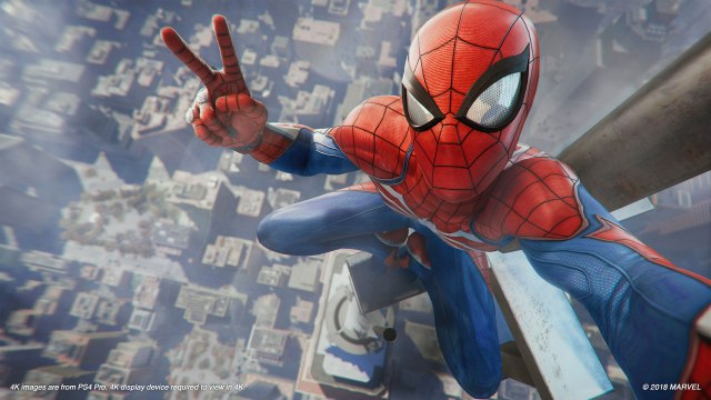 Spiderman PS4 Selfie